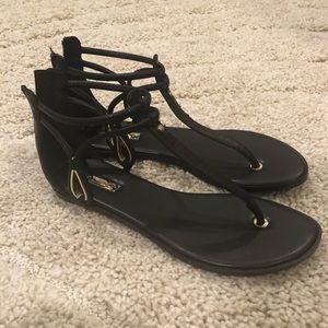 Aldo Black sandals NEVER WORN